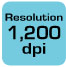 Resolution 1200dpi