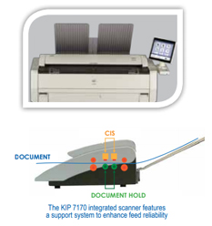 KIP 7170 Integrated CIS Scanning System
