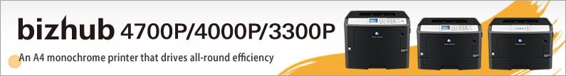 bizhub 4700P 4000P 3300P Product