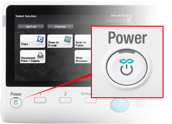 Use the power key to switch easily into Eco mode