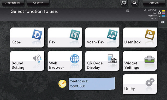 Widgets function