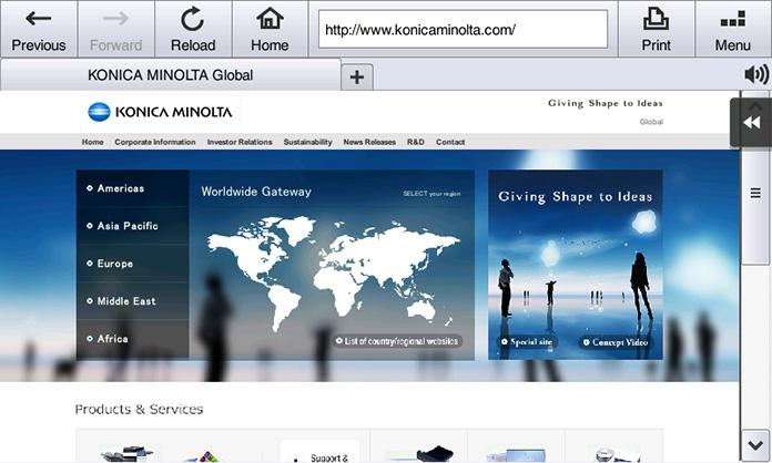 Standard web browser