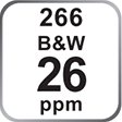 C258 Colour and B&W 25ppm