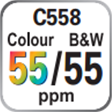C558 Colour and B&W 55ppm