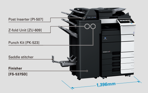 All-in-one compact finisher enables diverse output