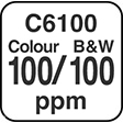C6100 Colour and B&W 100ppm